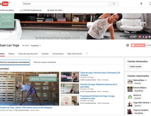 Cada semana un nuevo vídeo en mi canal Youtube