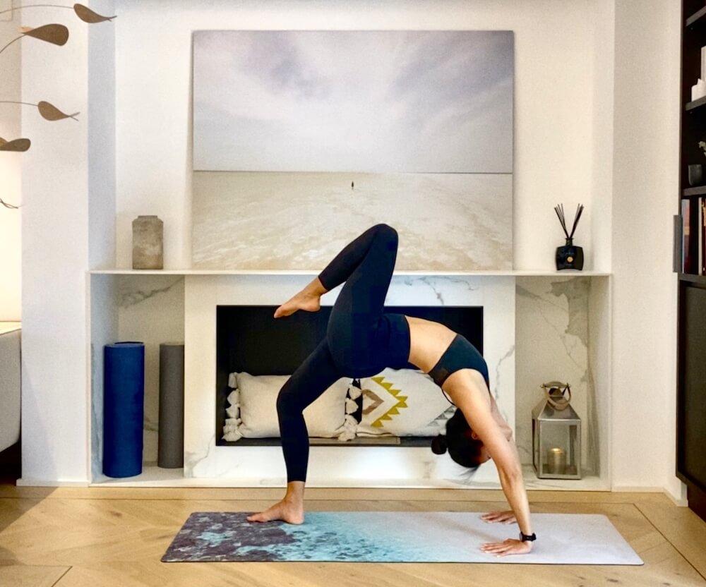 esterilla de yoga de microfibra