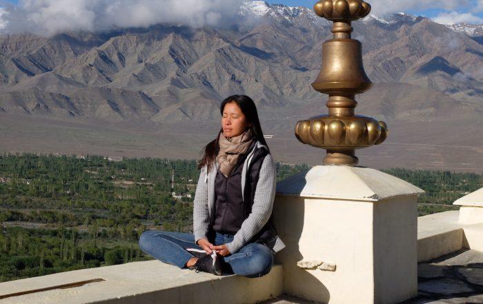 Xuan Lan Yoga meditación en Ladakh, India