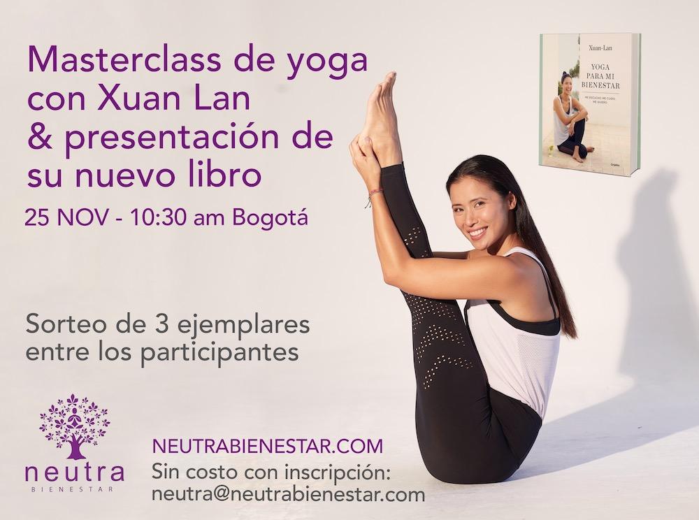 Neutra Bienestar-Bogotá- masterclass yoga Xuan Lan