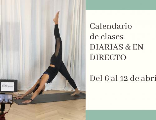Del 6 al 12 de abril: calendario de clases de yoga en directo