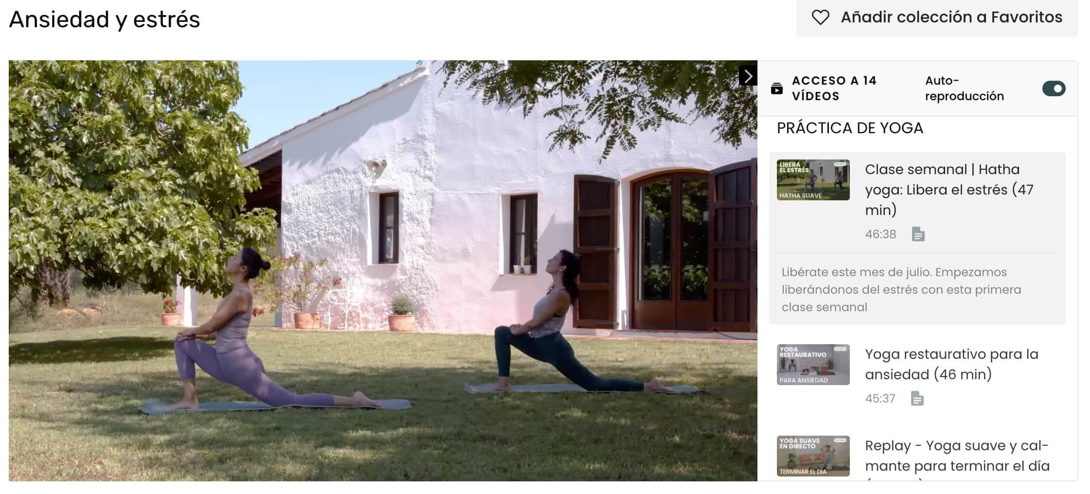 clases de yoga para la ansiedad