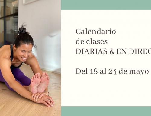 Del 18 al 24 de mayo: calendario de clases de yoga en directo