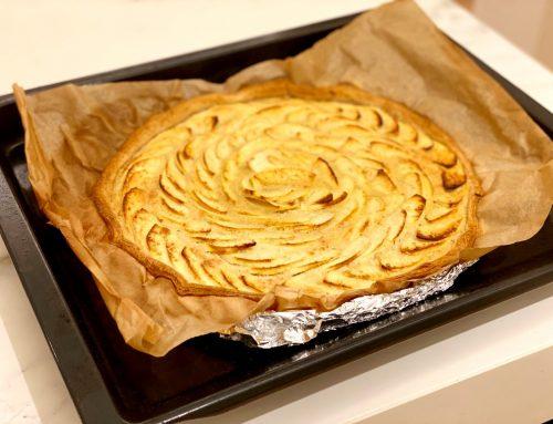 Receta saludable de pastel jugoso de manzana
