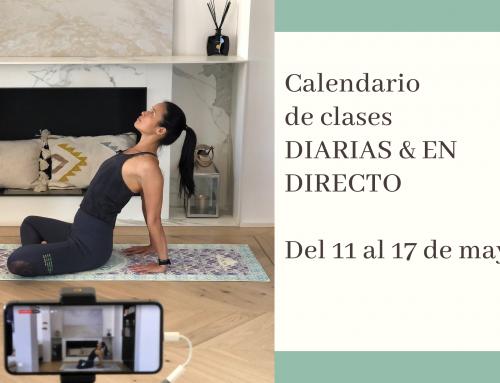 Del 11 al 17 de mayo: calendario de clases de yoga en directo