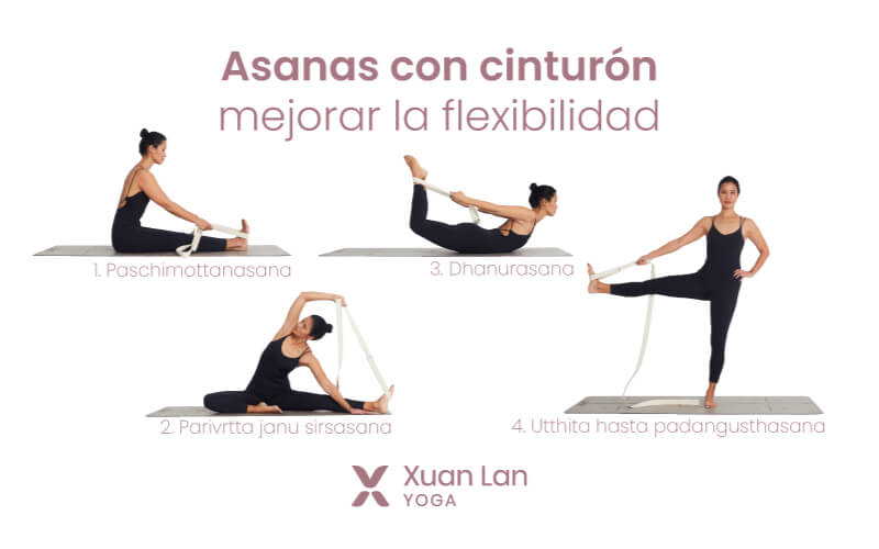 posturas con cinturon yoga
