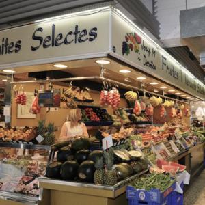 Fruta y verdura en el mercado