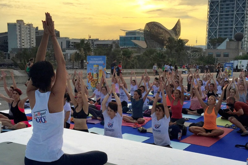 Tarde de yoga con Xuan-Lan y San Miguel 0,0